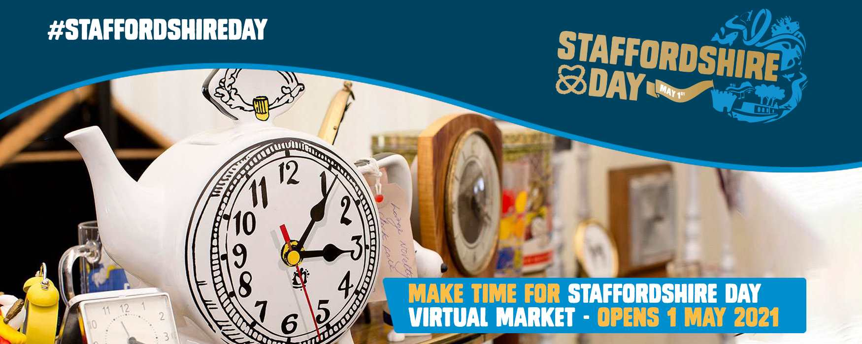 Staffordshire Day Virtual Market infographic. Click to visit the virtual market webpage.