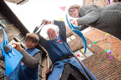 Role play medieval knights at Tamworth Castle