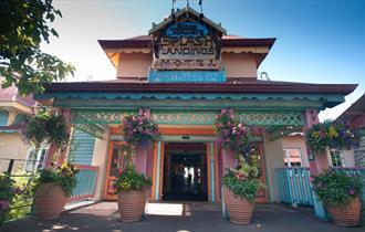 Front of Splash Landings Hotel