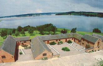 Blithfield Lakeside Barns aerial view