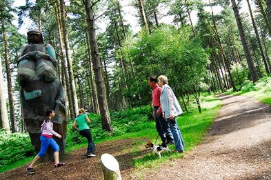 Sculpture trail at Birches Valley, Cannock Chase, Staffordshire