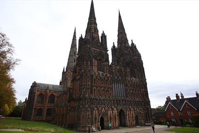 Outside Lichfield Cathedral