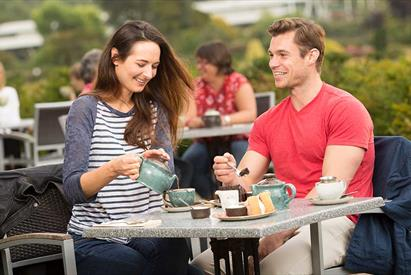 Tea for Two in the Italian Gardens Tearoom