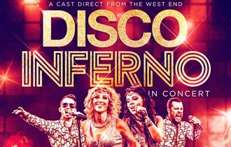 The ultimate UK Disco tribute, Disco Inferno taking place at Adventure Farm, Staffordshire