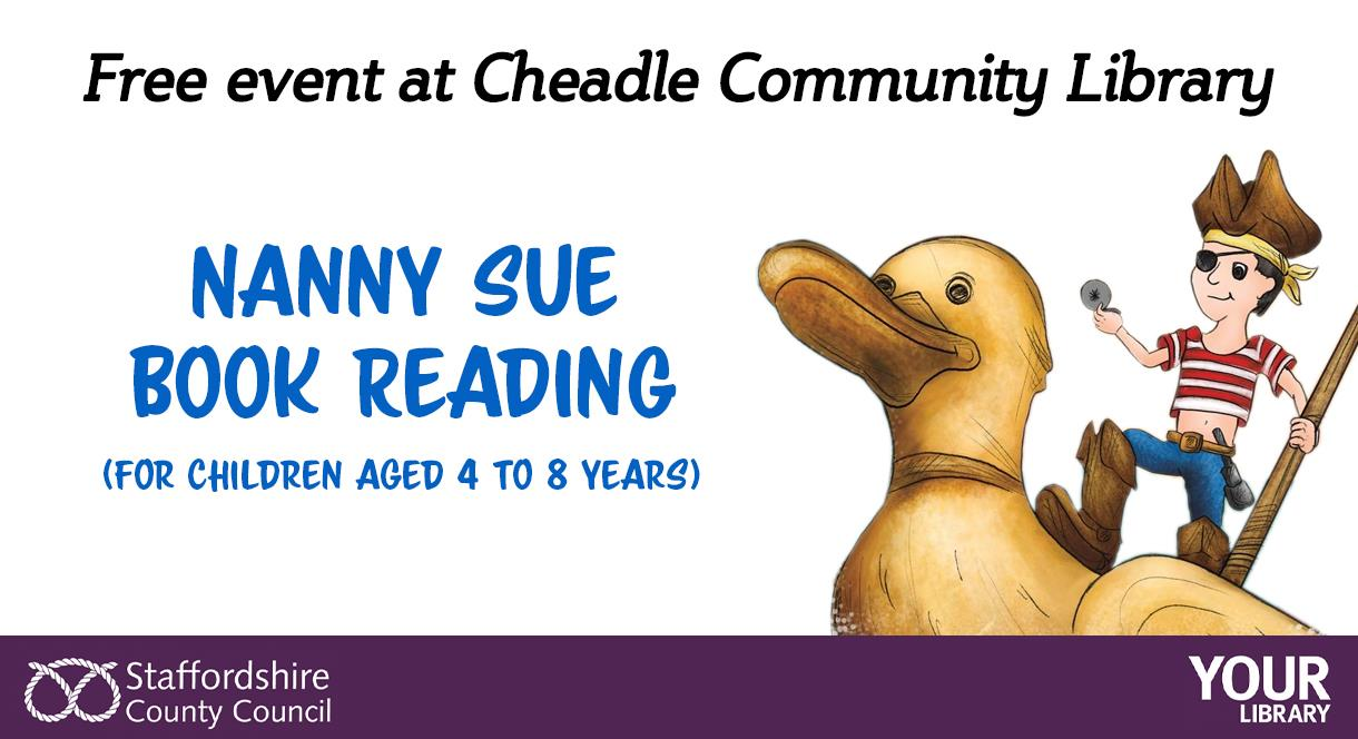 Free book reading event at Cheadle Library