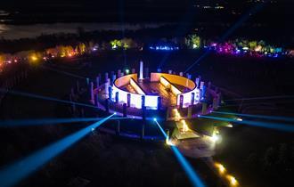 Illuminated Arboretum, an outdoor Christmas event at the National Memorial Arboretum, Staffordshire