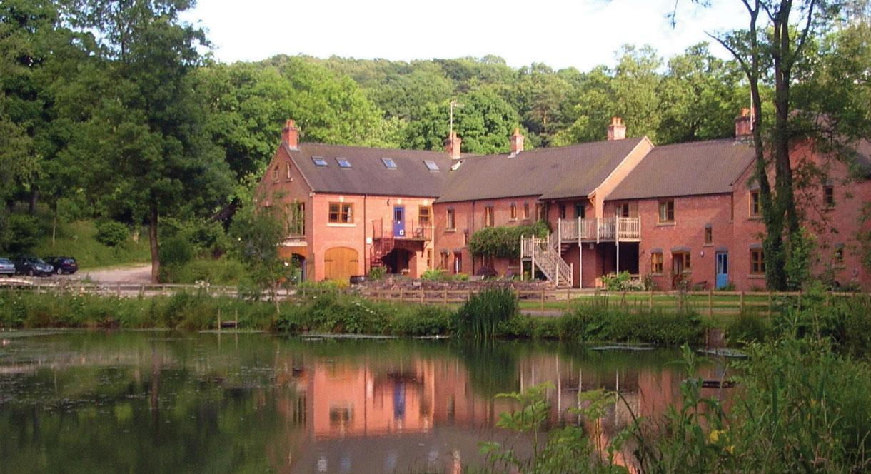 View across the lake to Foxtwood Cottages