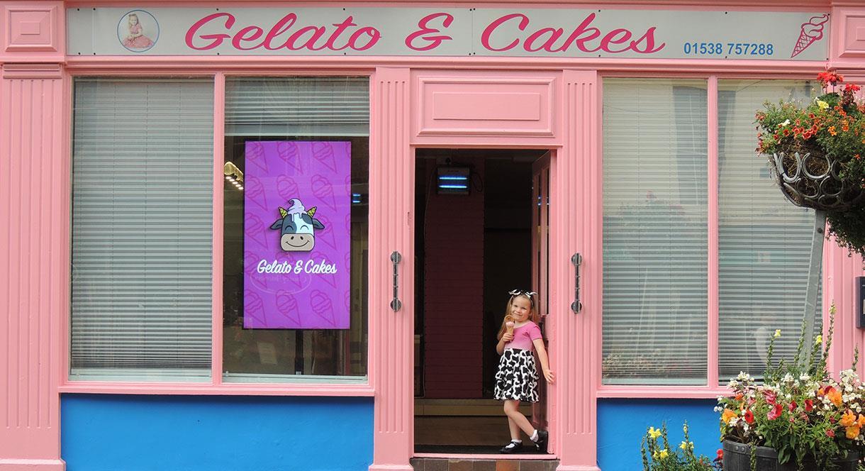 Gelato & Cakes, High Street, Cheadle, Staffordshire