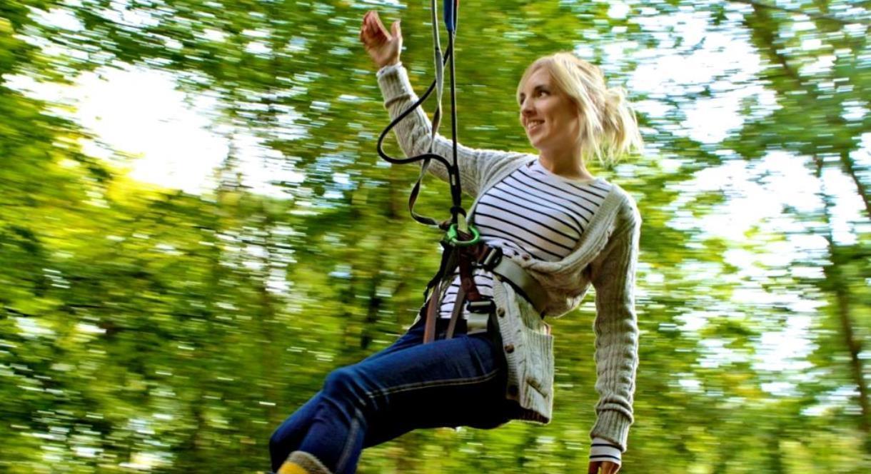 Lady on Zipwire