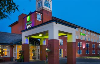 Express by Holiday Inn, Burton upon Trent, Staffordshire. Exterior of hotel.