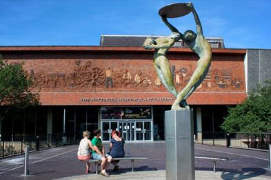 Front of the Potteries Museum & Art Gallery