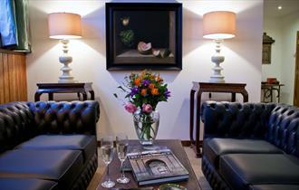 Sitting room in Ingestre Lodges
