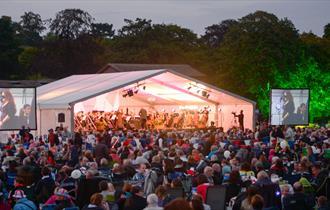 Proms in Beacon Park, Lichfield, Staffordshire
