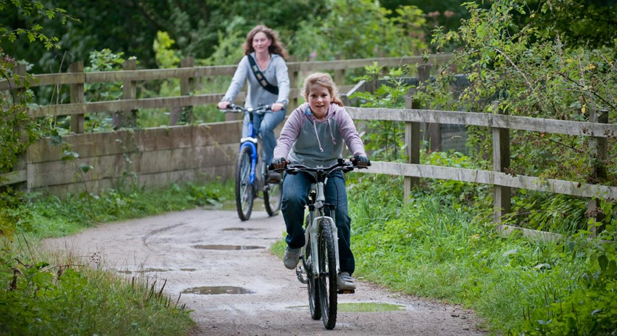 Cycling throw the scenery