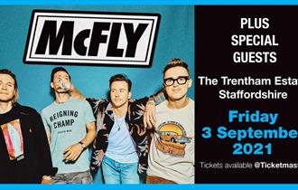Mcfly will be playing Trentham Live at the Trentham Estate, Staffordshire on Friday 3 September 2021.