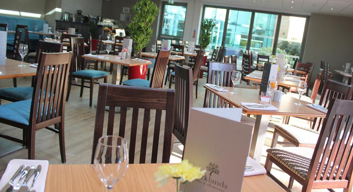 Parklands restaurant in Drayton Manor Hotel