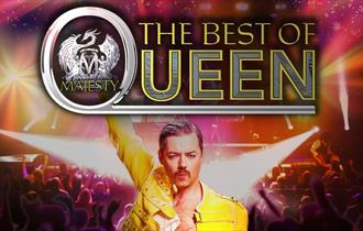Majesty, the UK's biggest Queen Tribute band play at Adventure Farm, Staffordshire