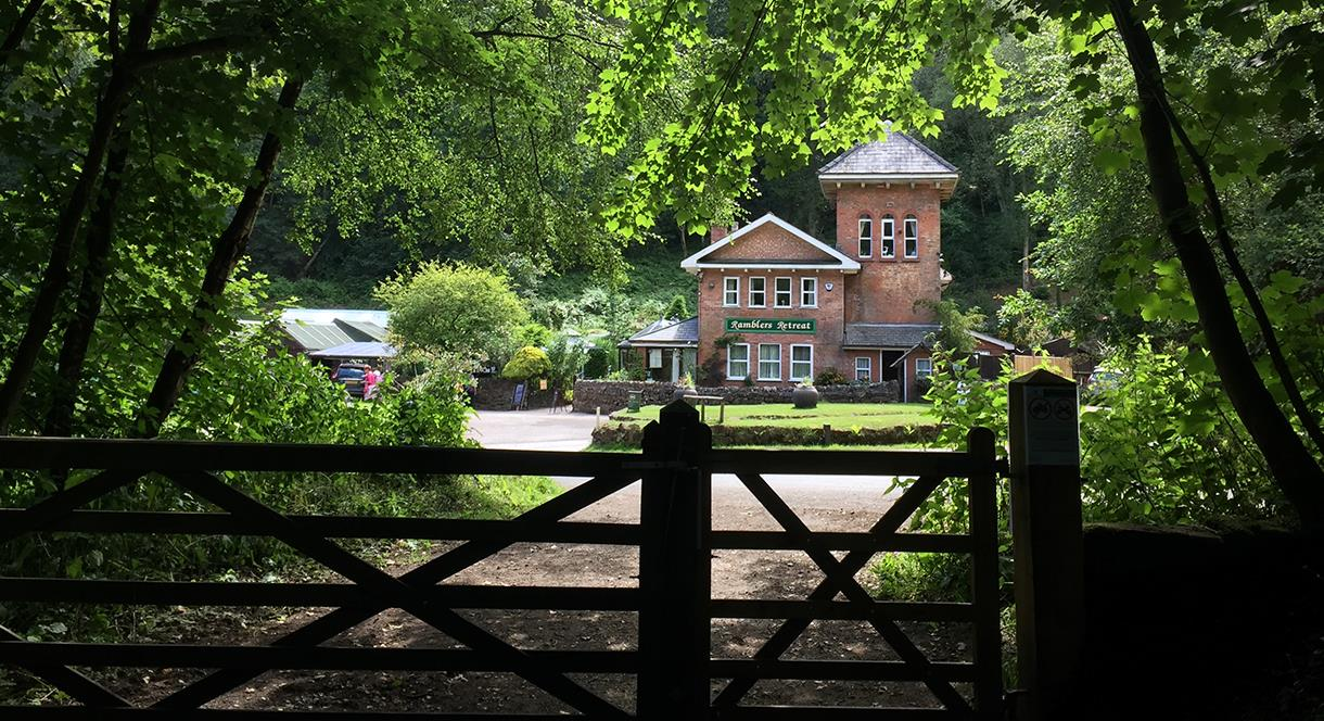 Ramblers Retreat tea room nestled in the Churnet Valley at Dimmingsdale