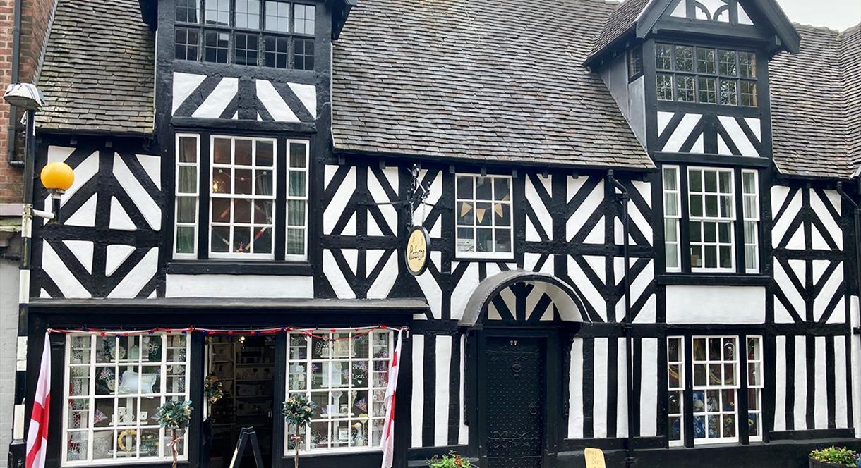 The beautiful Tudor exterior of Redeezine gift shop