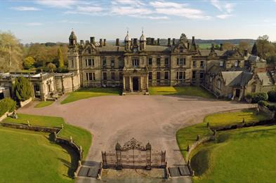 Aerial View of Sandon Hall