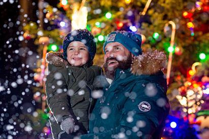 Real snow fun at the SnowDome for Santa's Winter Wonderland