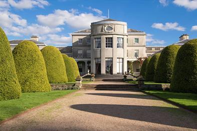 Shugborough Estate, Staffordshire. View of the rear of the house.