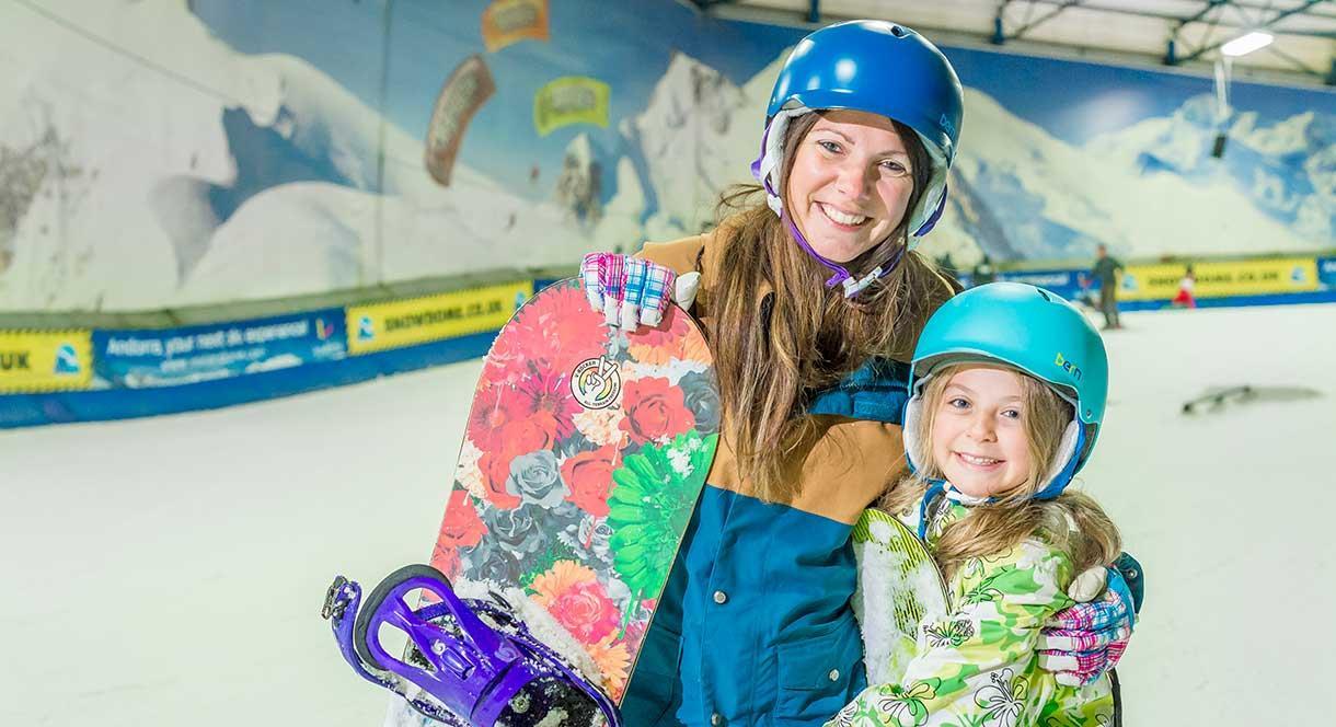 Skiing at SnowDome