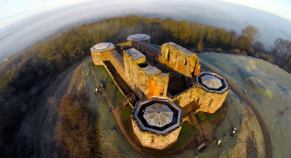 Stafford Castle from the air