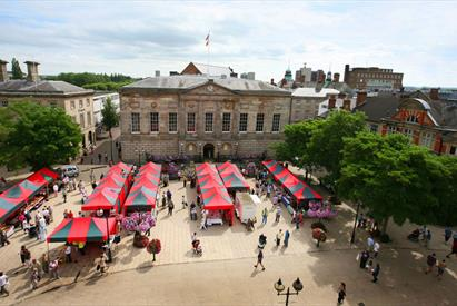 Stafford's market square venue for many of the town's popular events.