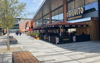 The Hive at The Potteries Centre, Stoke-on-Trent with Cineworld cinema and a range of restaurants