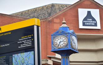 The Potteries Centre is the largest shopping centre in North Staffordshire and South Cheshire