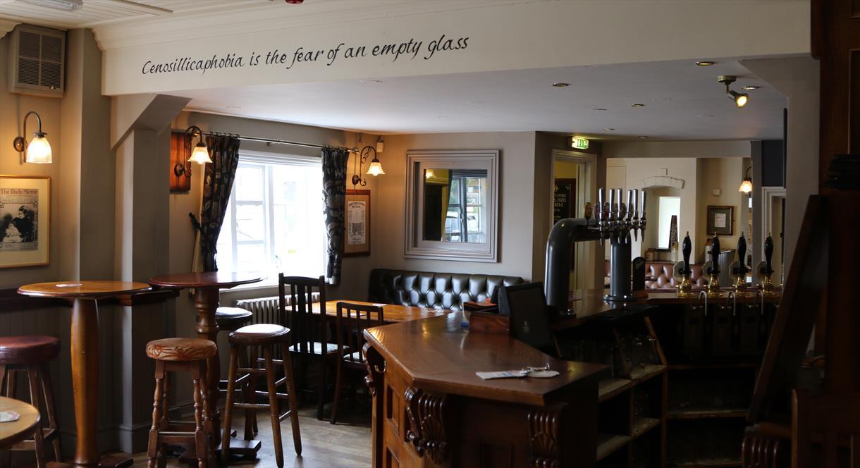 The pub bar area