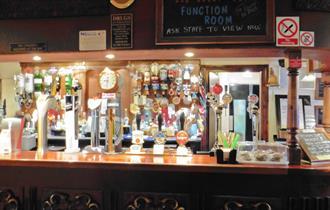 The bar at The Winking Man