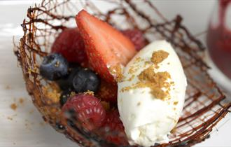Tempting desserts at The Chase Golf Club's Woodlands Restaurant