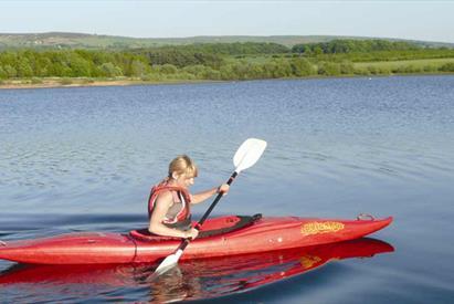 Tittesworth Water, Kayaker