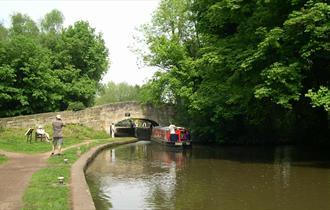 View of the lock and bridge near Shugborough Estate