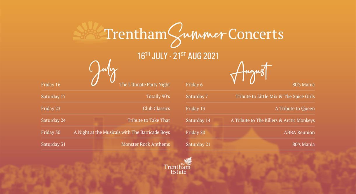 Summer Concerts - Trentham Estate