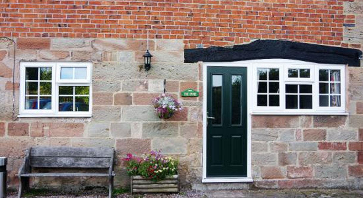 Front Door of Tythe Barn House
