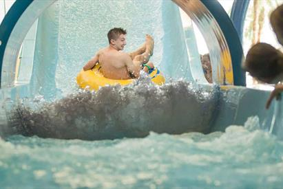 Safely down the ride at Waterworld