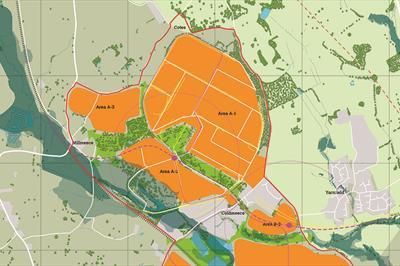 Part map of the Cold Meece Garden Settlement