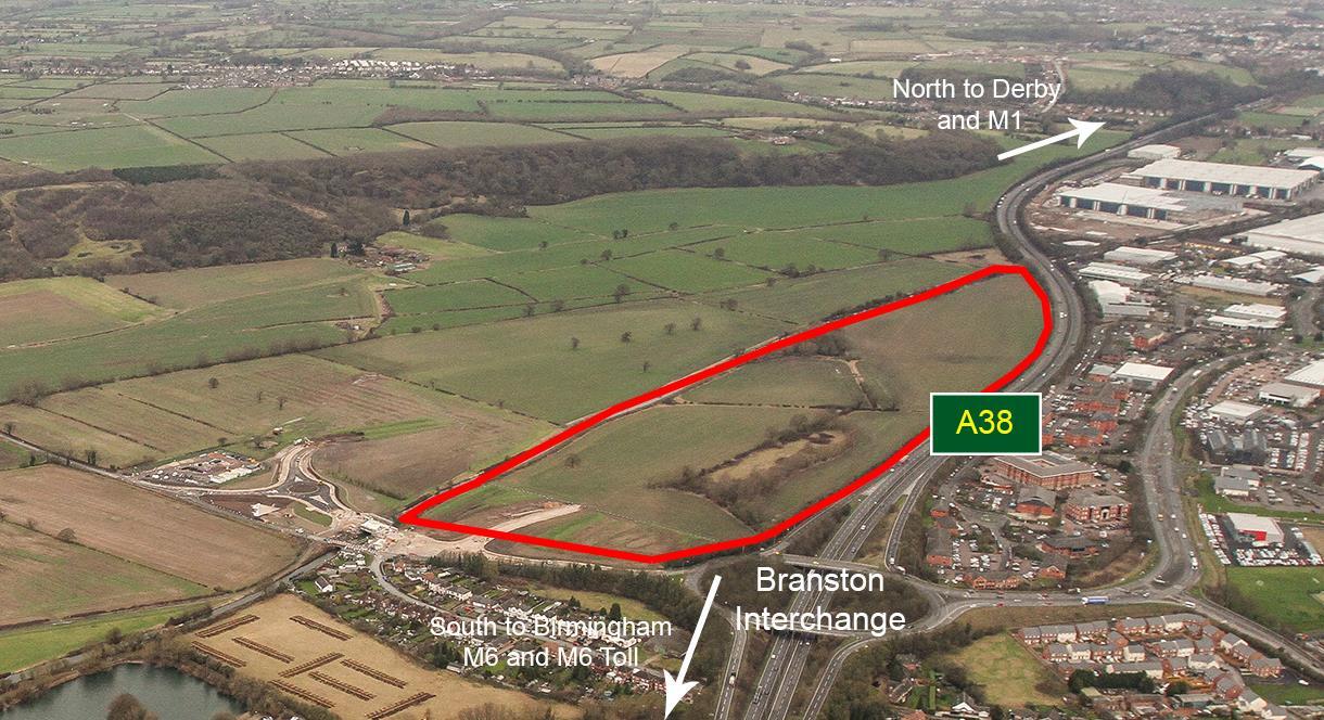 Aerial photograph of Quintus Burton upon Trent