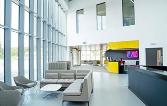 Reception area IC6 at Keele University