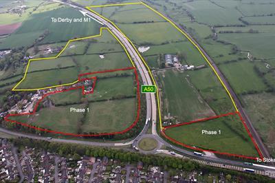 Aerial photograph of Blythe Vale Business Park
