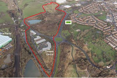 Aerial Photograph of Chatterley Valley East Development Site.