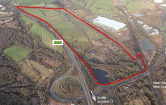 Aerial photograph of Chatterley Valley West development site, part of the Ceramic Valley Enterprise Zone.