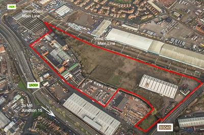 Aerial photograph of Cliffe Vale development site, Stoke-on-Trent