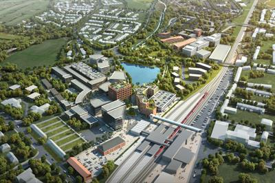 Aerial view of the proposed Stafford Gateway project