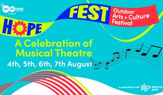 Blue poster: HOPE FEST: A Celebration of Musical Theatre