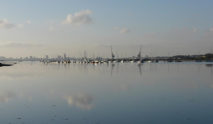 View out over Portsmouth Harbour