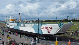 Photograph of LCT 7074 on Clarence Esplanade for Take The Helm